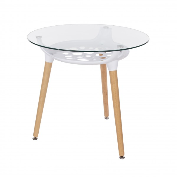Aspen Round Glass Top Table