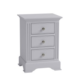 Brighton Painted Grey Large Bedside Chest