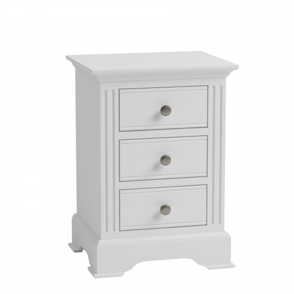 Brighton Painted White Large Bedside Chest