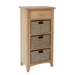 Goodwood 3 Basket Hall Cabinet