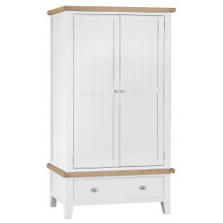 Tangmere White Gents Double Wardrobe