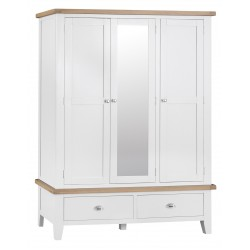 Tangmere White Triple Mirrored Wardrobe