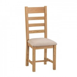 Arundel Rustic Ladder Back Dining Chairs (Set of 2)