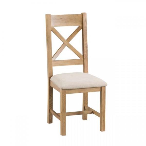 Oldbury Rustic Cross Back Dining Chairs (Set of 2)