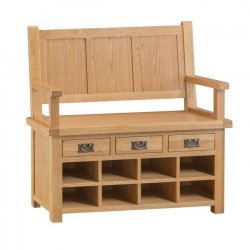 Oldbury Rustic Monks Hall Bench