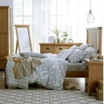 Oldbury Rustic Narrow Bedside Chest of Drawers