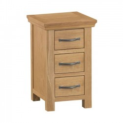 Arundel Rustic Narrow Bedside Chest of Drawers